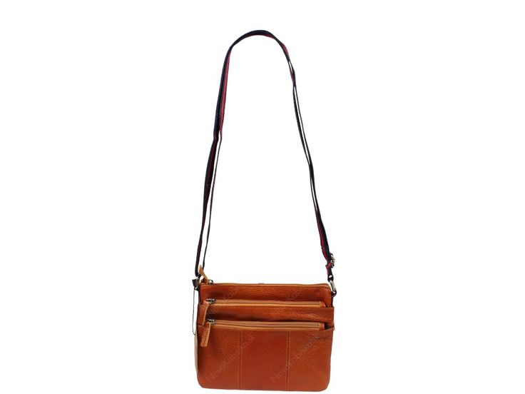 Malá kožená kabelka Empiro Camel