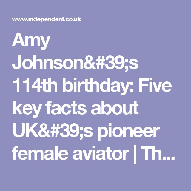 Amy Johnson's 114th birthday: Five key facts about UK's pioneer female aviator | The Independent
