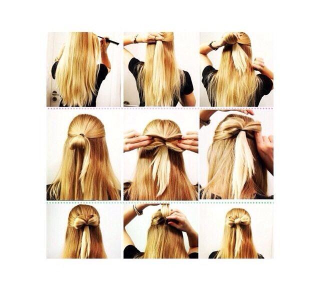 Leuke knot voor in je haar