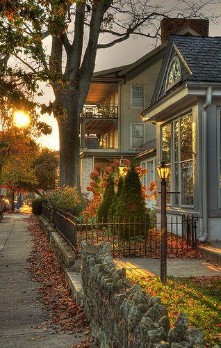 Autumn sunset, West Chester, Pennsylvania