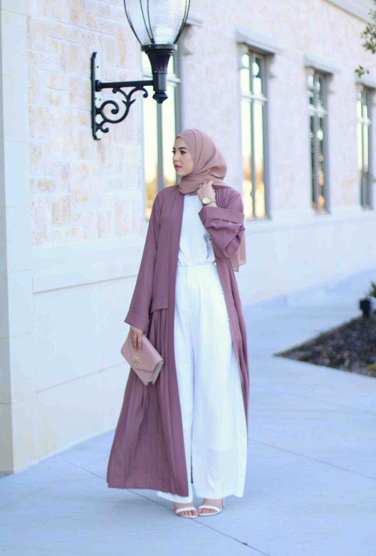 "Abaya: Abaya Buth c/o | Pants: Similar here | Top: Similar here | Heels: Similar here | Hijab: I Love Modesty  ""Deep Nude"" c/o 