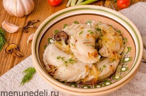 Рецепт постных вареников с картошкой и грибами / Меню недели
