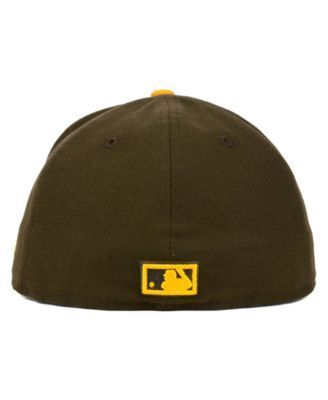 New Era San Diego Padres Mlb Cooperstown 59FIFTY Cap - Gold 7 1/8