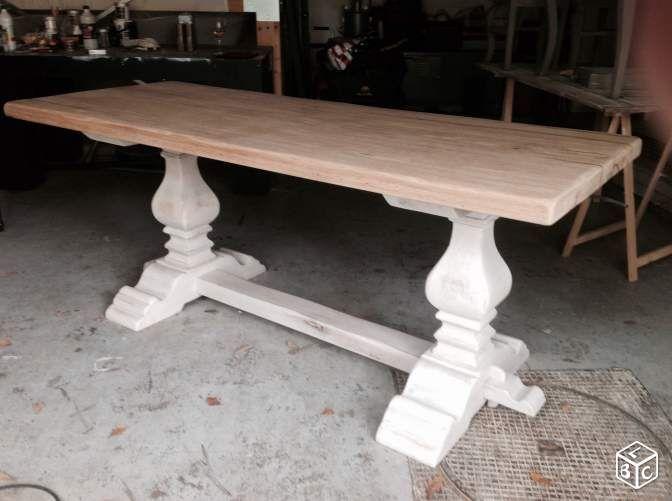belle table monastere revisitee ameublement oise. Black Bedroom Furniture Sets. Home Design Ideas