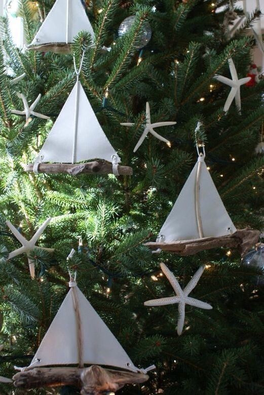 Find unique Coastal Presents for the Beach Lovers on your list! Sailboats on your christmas tree is just our style!