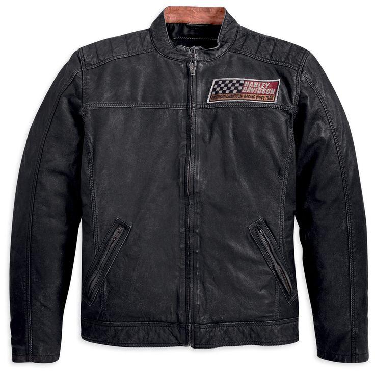 Harley-Davidson® Mens Havoc Vintage Goatskin Black Leather Jacket