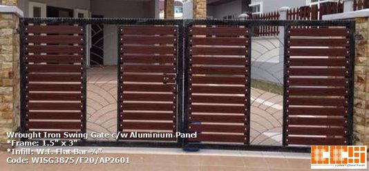 Wrought Iron Swing Gate