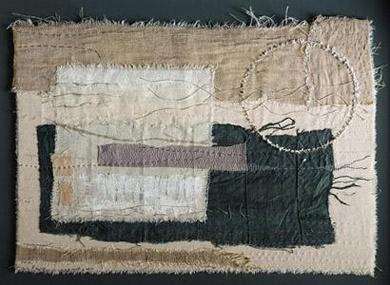 at night - gizella K warburton  lovely free textile collage