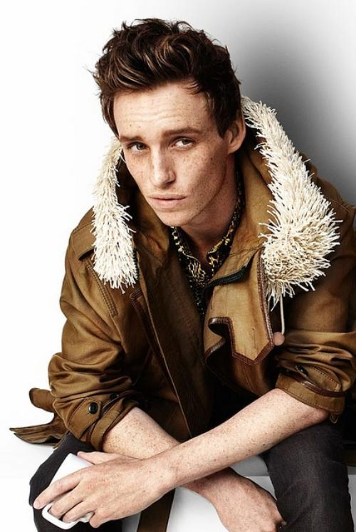 Eddi Redmayne -- I adore the freckles!
