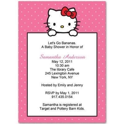 Find This Pin And More On Hello Kitty Baby Shower Invitations By  Invitesbaby.