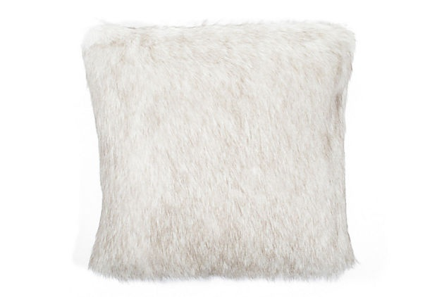 Faux fur pillow, best of both worlds!
