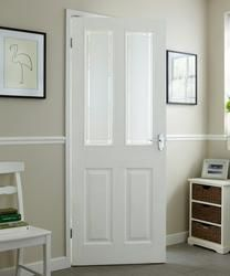 4 Panel Grained 2 Light Glazed | Internal Moulded Panel Doors | Doors & Joinery | Howdens Joinery