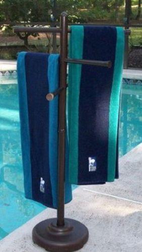 Towel Rack Pool Spa Outside Patio Furniture Yard Furniture Bathing Suits | eBay