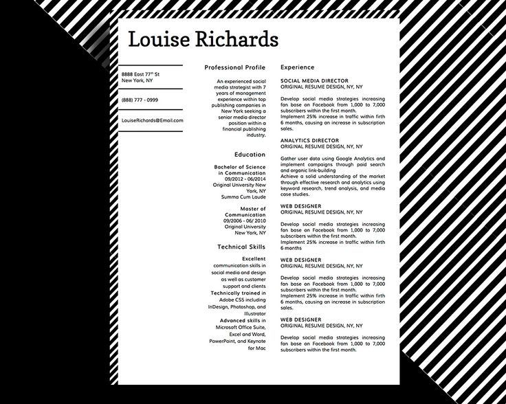 8 best Louise Richards Edge \ Style Resume Templates images on - copy of resume template