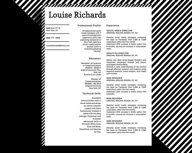 8 best images about louise richards edge  u0026 style resume
