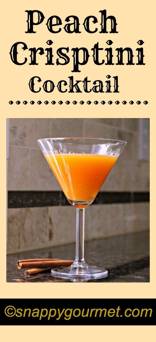 Peach Crisptini Cocktail #recipe | snappygourmet.com