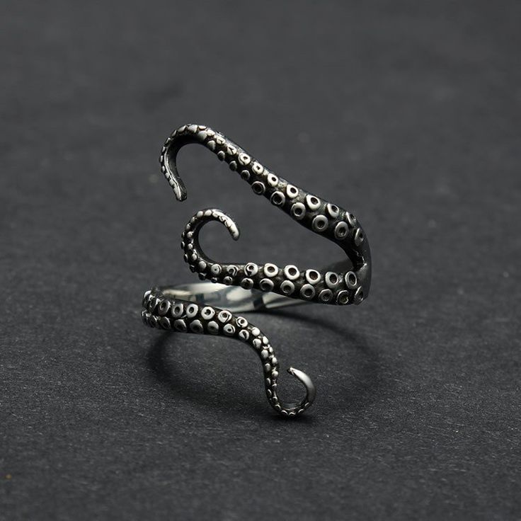 Titanium Steel Gothic Deep Sea Octopus finger ring      gothic architecture gothic cabinet gothic clothing gothic literature gothic art	gothic basin gothic theater	fashion gothic jewelry alchemy celtic boho rave steampunk tentacles handmade unique craft buy armoire antiques vintage classic design rockabilly pinup pin up angel elf fairy fantasy horror movies wicca wiccan gems ruby rhinestone steel silver gold black alchemy
