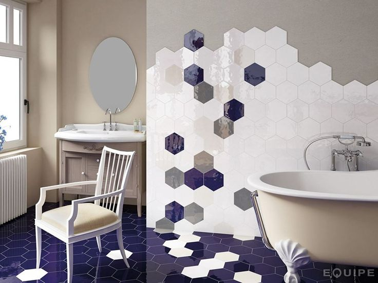 Ceramic wall tiles HEXATILE by EQUIPE CERAMICAS