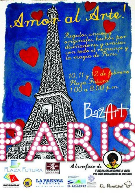 afiche para exhbición y venta de productos de diseñador BazArt París, 2011. ®raquel marón estudio creativo