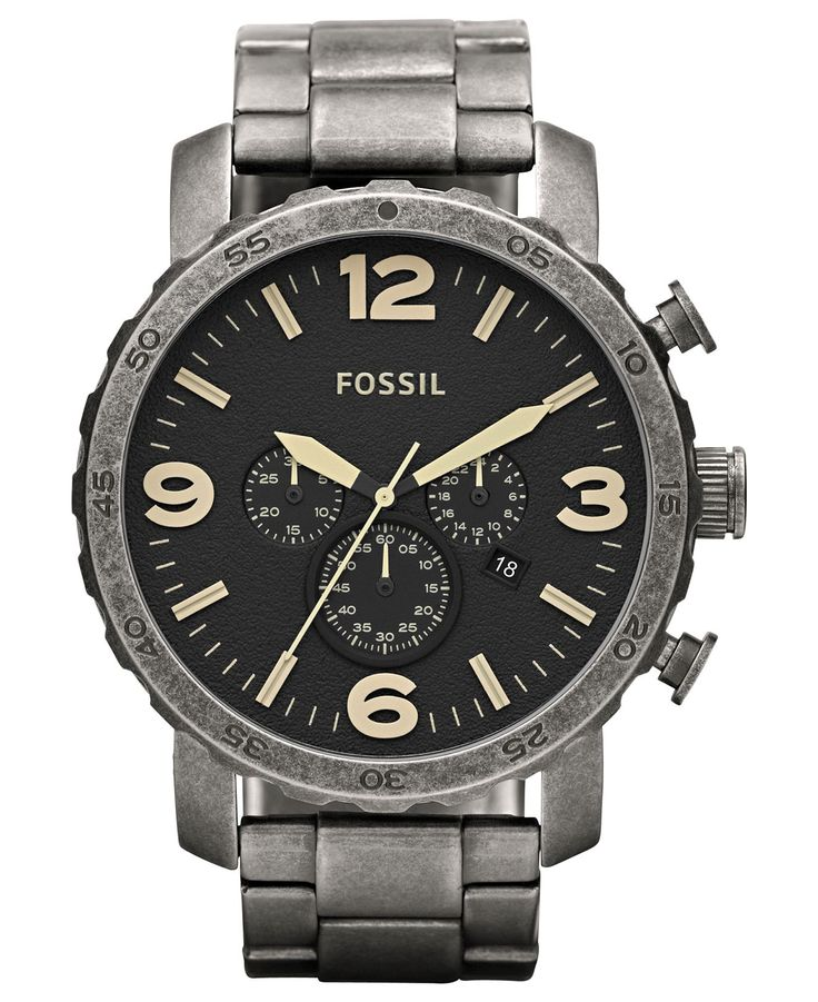 17 best ideas about fossil watches mens fossil fossil watch men s chronograph nate antiqued stainless steel bracelet 50mm jr1388 fossil jewelry