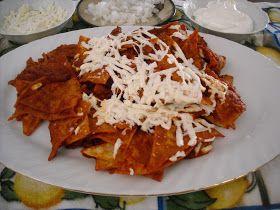 Magdalena's Mexican Kitchen: Chilaquiles Rojos en Salsa de Guajillo