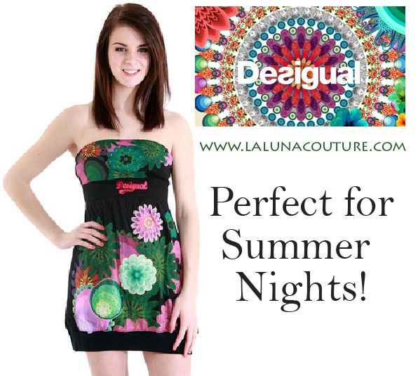 Desigual Telma Dress only $74!!!!  A black, strapless bubble dress with a neck ribbon is one of our favourite offerings for your summer nights. Can be worn with or without the straps. S-XL. Order yours now!  https://www.lalunacouture.com/desigual-telma-dress.html  #desigual #telmadress #Summerdress #Shop