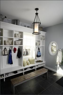 Several mudroom ideas compiled here.