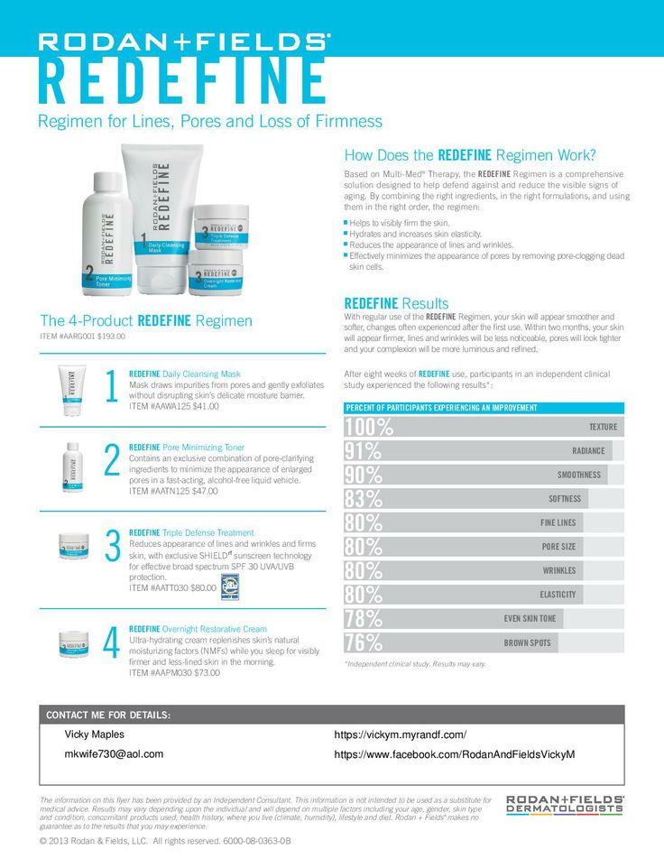 Rodan + Fields Redefine - Tightens Pores, redefines wrinkles, smooths texture!  This is the real deal.  www.kris4u.myrandf.com