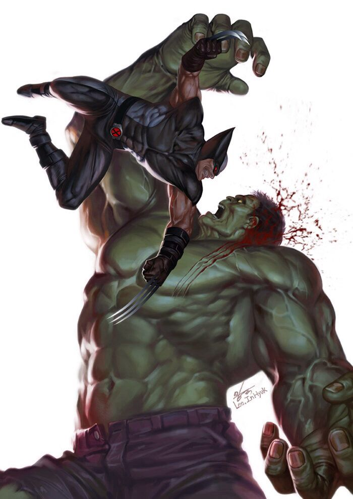 Wolverine vs.The Hulk...........
