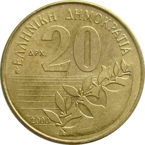 GRECIA / 2000 / 20 DRACMA - SOLOMOS