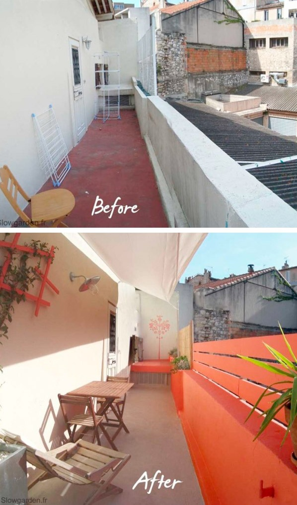 Balcon Tangerine #balkon #balcony #inspiratie_klein_balkon |  Balkonafscheiding.nl