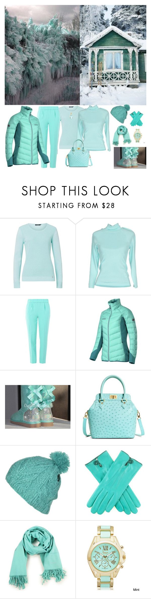 """""""Winter Mint"""" by horcal ❤ liked on Polyvore featuring Olsen, UNIQUENESS, Boutique Moschino, Mammut, Brooks Brothers, Volcom, Hermès and Geneva"""
