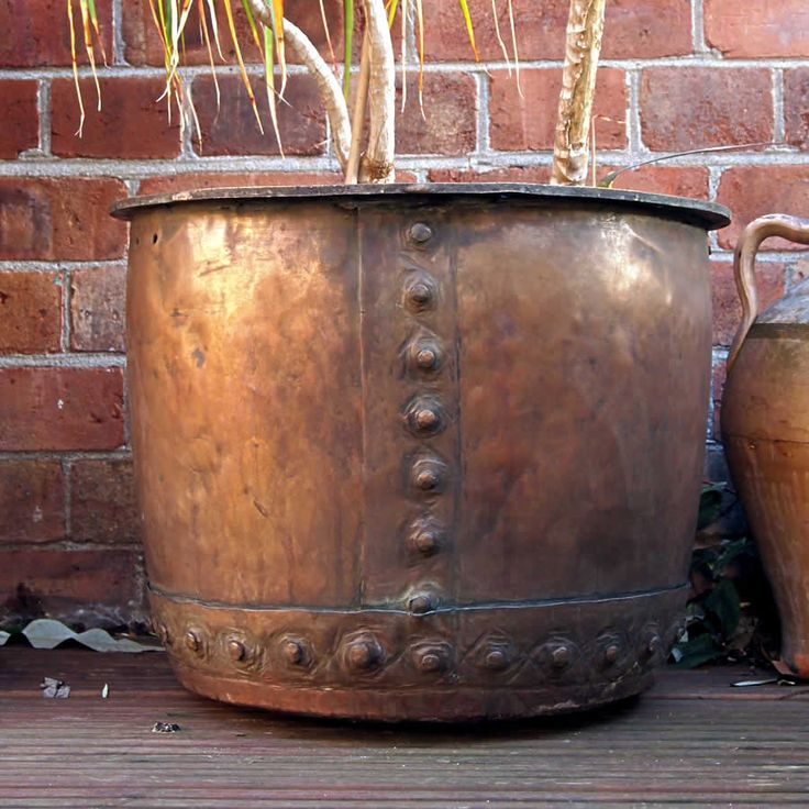 beautiful copper | Victorian copper vat with a beautiful green patina.