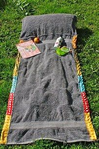 Create your own beach towel purse. It's perfect for transporting and use.   16 Beach Hacks That Will Save Your Summer