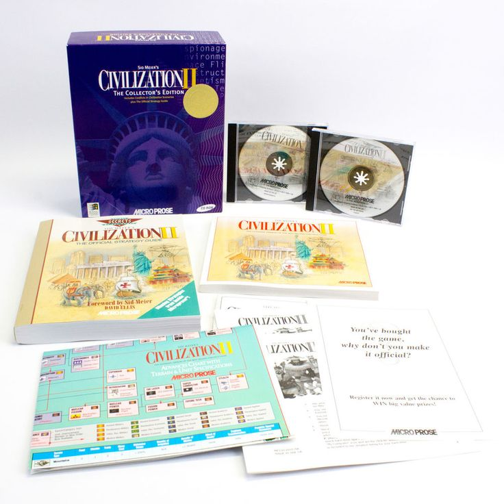 Sid Meier s Civilization II: The Collector s for PC by MicroProse Software, 1996