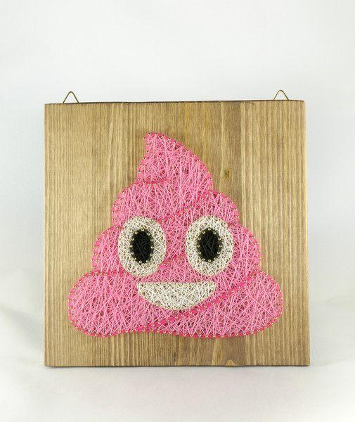 Wall Decor – Pink Poop Emoji Wall Decoration, fun decoration. – a unique product by Good-Lights on DaWanda
