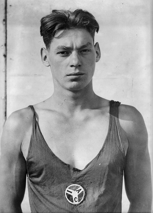Johnny Weissmuller, Austro-Hungarian born actor and swimmer for the US Olympic team, 1920's. S)