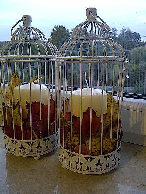 #autumn #fall #candle #leaves #jesień #świece #liście #decoration #decor #DIY