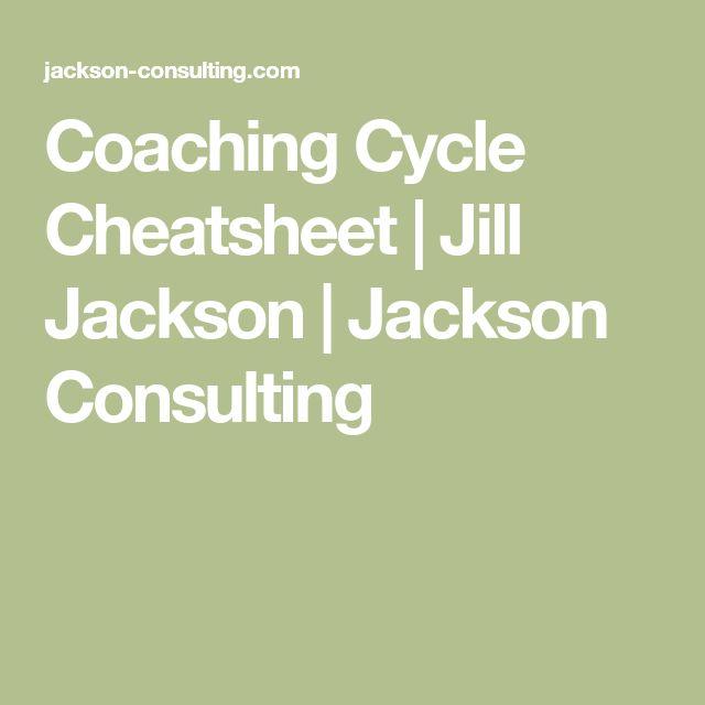 Coaching Cycle Cheatsheet   Jill Jackson   Jackson Consulting
