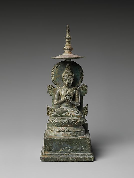 Seated Vairochana, the Transcendent Buddha of the Center    Period:      Central or Eastern Javanese period  Date:      ca. first half of the 10th century  Culture:      Indonesia (Java)  Medium:      Bronze