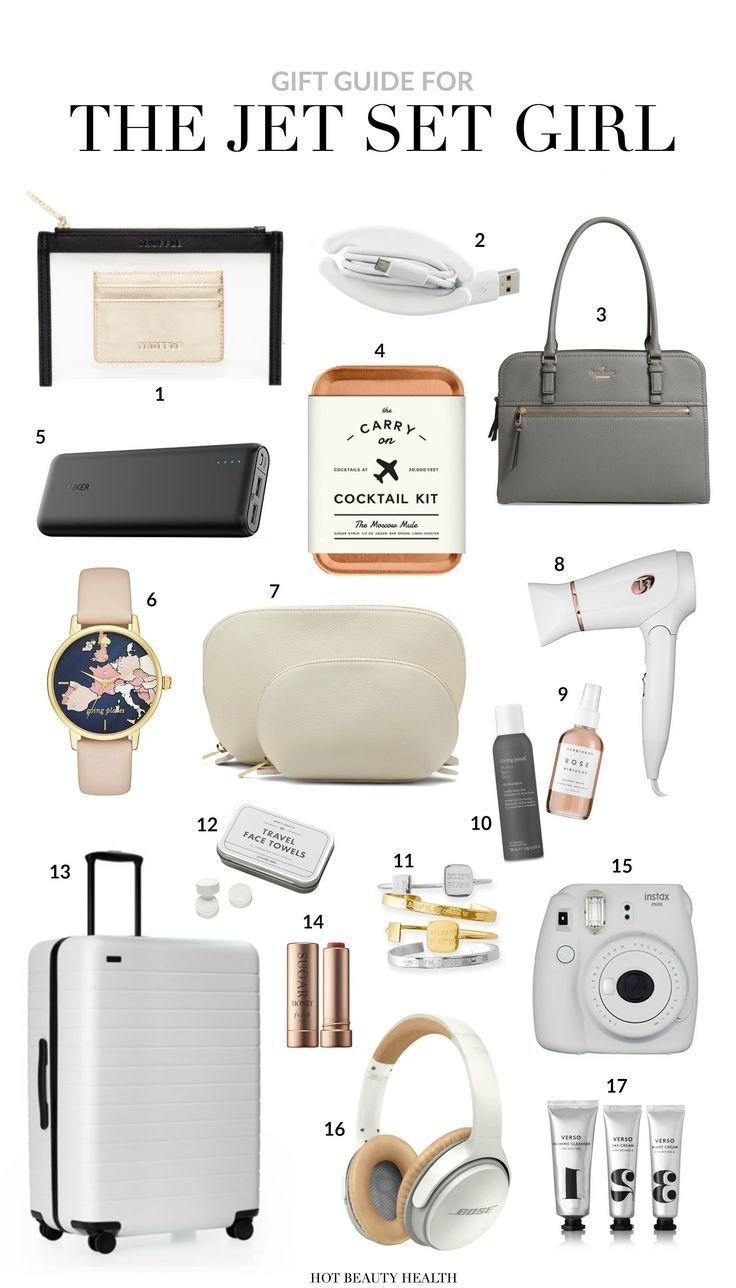 Holiday Gift Guide 12 Must Haves For The Jet Set Girl In 2020 Gift Guide Travel Travel Bag Essentials Travel Essentials