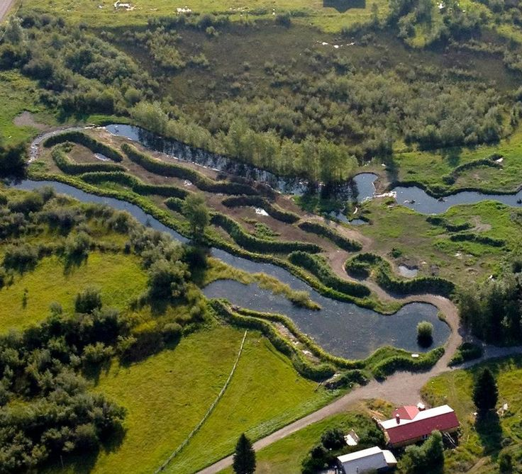 Sepp Holzer designed water system in Montana