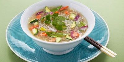 Rice Noodles with Vegetables in a Miso Broth - lifestyle.com.au
