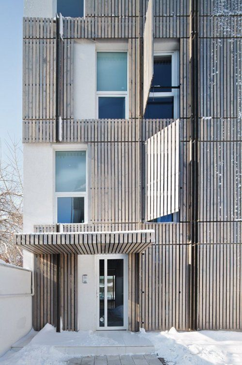Residential Building with 7 Aparts. by Synthesis... - The Black Workshop   #architecture #facades