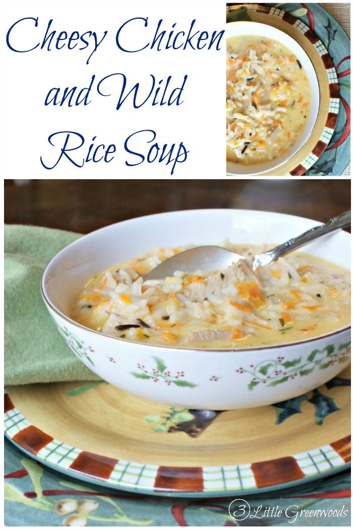 FABULOUS Cheesy Chicken & Wild Rice Soup Recipe! Perfect for a cold winter's night! #SoupRecipe #CrockPot