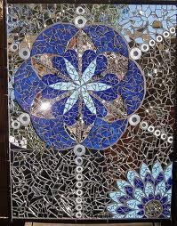 Flower of Life III by Tanja Hawker #mosaic  #upcycled  #recycled #art