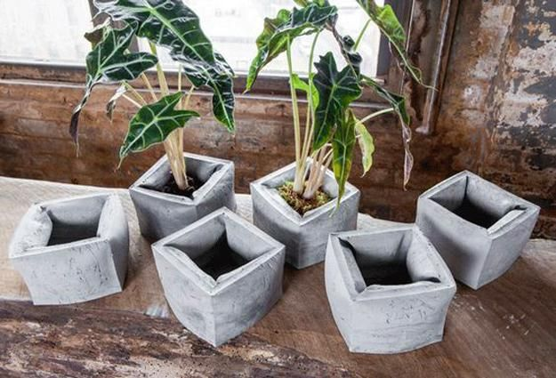Diy Concrete Planters Ideas For Outdoor Home Decorating With