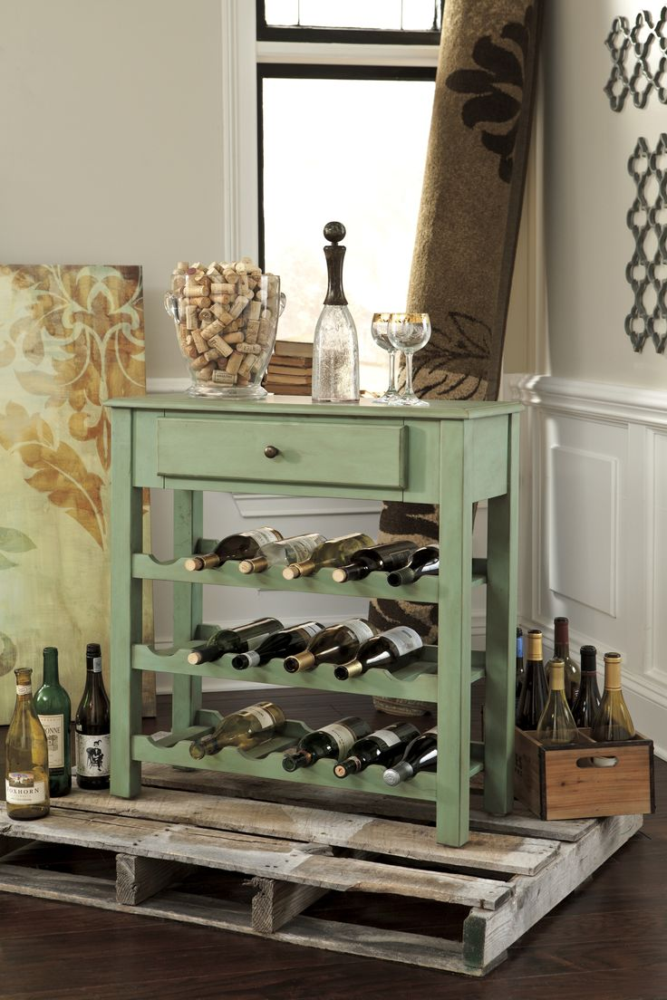 wine rack accent table by Ashley Furniture