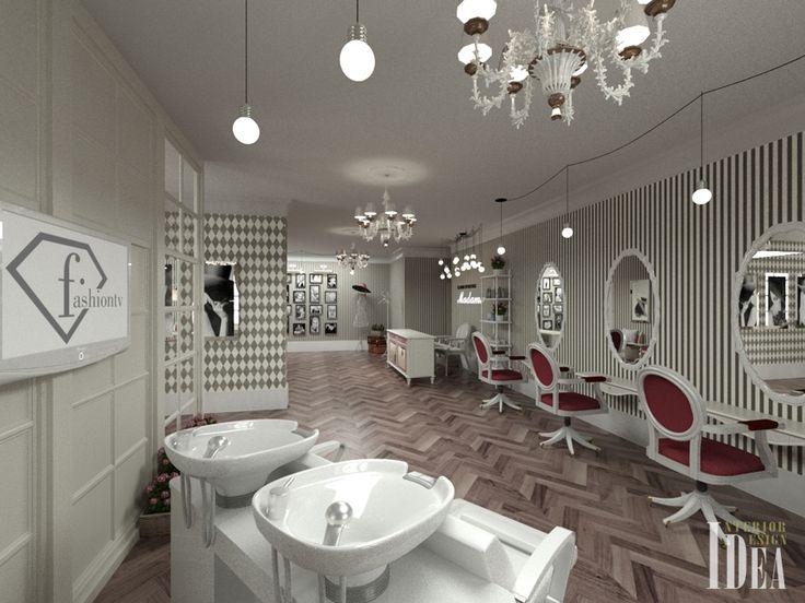 Салон красоты MADAME - Дизайн интерьера Одесса, студия Идея