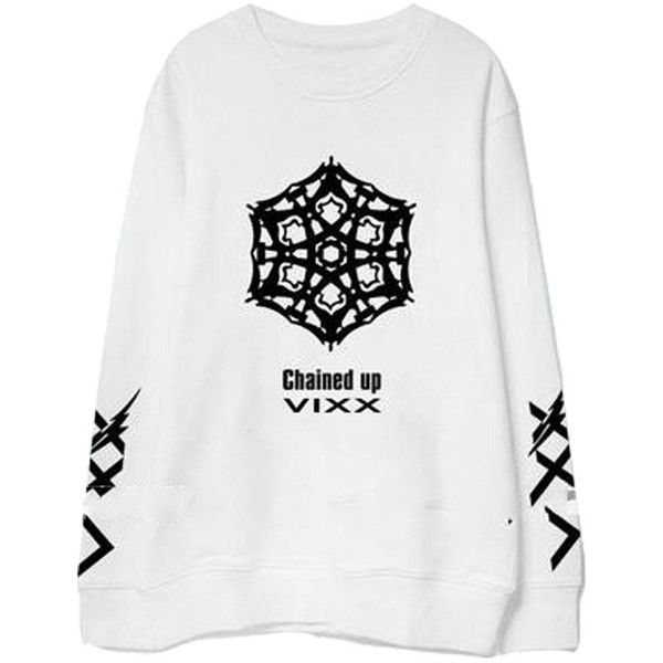 Kpop VIXX Chained Up Album Official Same Sweater Jacket Pullover... ($20) ❤ liked on Polyvore featuring tops, hoodies, sweatshirts, sport sweatshirts, sports tops, sports sweatshirts, sweater pullover and sport top
